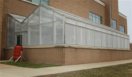 exterior of valley's greenhouse