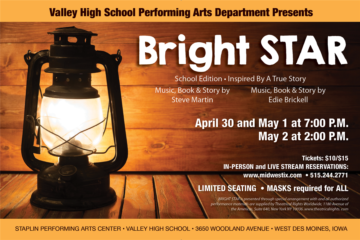 bright star school edition event poster