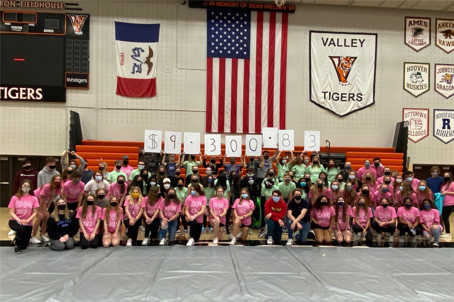 valley dance marathon raise $9,300.83 at 2021 event.